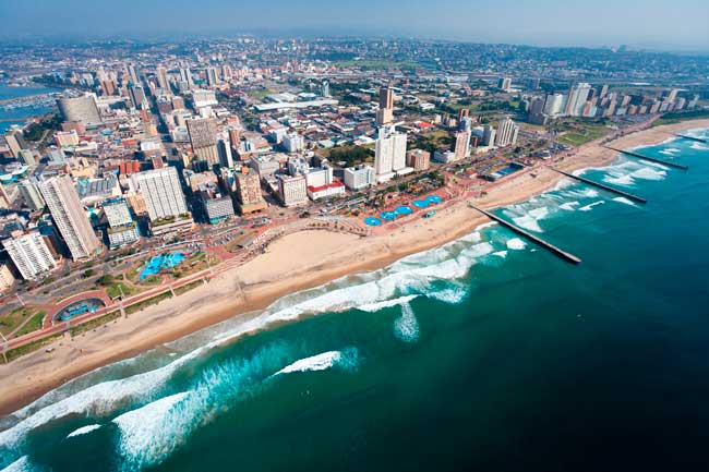 Durban is the largest city of KwaZulu-Natal province in South Africa.